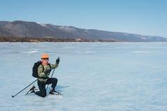 Norueguês que caminha patins Fotografia de Stock