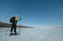 Norueguês que caminha patins Fotos de Stock