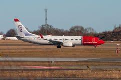 Norvégien Boeing 737-800 à l'aéroport de Copenhague Photo stock