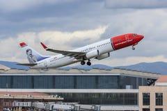 norvégien COM voyagent en jet le décollage Image libre de droits