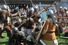 Norvégien Vikings à St Petersburg Image stock
