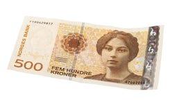 Norvegese una banconota da 500 corone svedesi Fotografia Stock Libera da Diritti