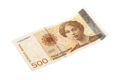 Norvegese una banconota da 500 corone svedesi Immagine Stock