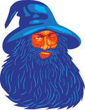 Norvegesi Dio Odin Beard WPA Fotografia Stock