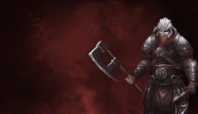 Norvegesi Viking di fantasia Progettazione di carattere del guerriero Illustrazione realistica immagini stock
