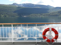Norvegian coast. View of norvegian coast from a cruise boat, Norway Stock Photos