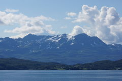 Norvegian coast. View of norvegian coast from a cruise boat, Norway Stock Photography