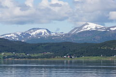 Norvegian coast. View of norvegian coast from a cruise boat, Norway Royalty Free Stock Photo