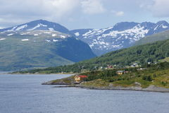 Norvegian coast. View of norvegian coast from a cruise boat, Norway Stock Images