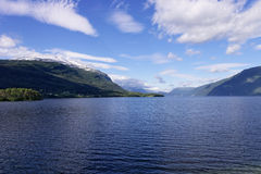 Norvegian fjord Arkivfoto
