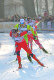 Norvegian Skier Eide in Milan Race in the City Stock Images