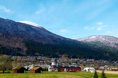 Norvegian village. Stordal. early spring 2015 Stock Photo