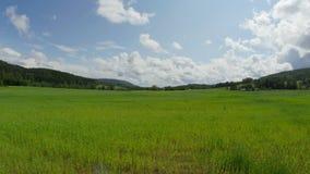 norwagian village farm, near oslo, norway, timelapse, 4k stock footage