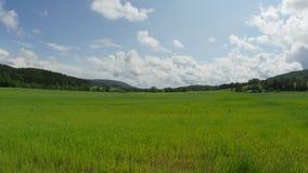 norwagian village farm, near oslo, norway, timelapse, zoom in, 4k stock video