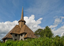 Norwaigian church. Church in nroway with blue sky Royalty Free Stock Images