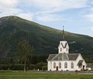 Norwaigian church. Church in nroway with blue sky Stock Photos