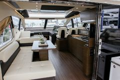 Azimut 55S interior view Stock Photography