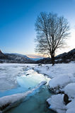 Norway. Winter landscape in norway in desember Royalty Free Stock Photo