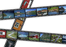 Norway. Illustration - film strips with travel photos. Fjords and landscapes in Norway, Scandinavia. All photos taken by me Royalty Free Stock Photography