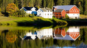Norway. Village in the  Norwegian countryside Stock Photo