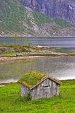 Norway. A photo of a farm cottage north of the Polar Circle in Norway Stock Image