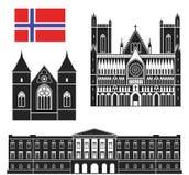 norway royaltyfri illustrationer