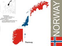 Norway. Flag and area vector illustration vector illustration