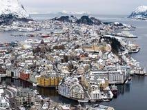 Norway Alesund. Norway City Alesund Panorama view Stock Images