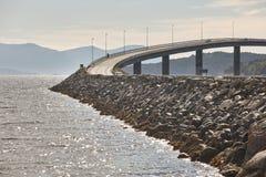 Norway. Atlantic ocean road. Bridge over the ocean. Travel europ Royalty Free Stock Images
