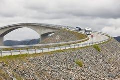 Norway. Atlantic ocean road. Bridge over the ocean. Travel europ Stock Images