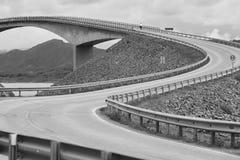 Norway. Atlantic ocean road. Bridge over the ocean. Travel europ Stock Image