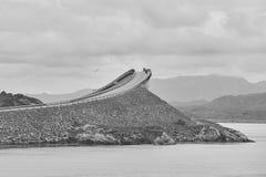 Norway. Atlantic ocean road. Bridge over the ocean. Travel europ Stock Photography
