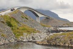 Norway. Atlantic ocean road. Bridge over the ocean. Travel europ Royalty Free Stock Photo