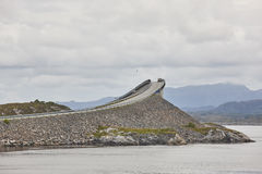 Norway. Atlantic ocean road. Bridge over the ocean. Travel europ Stock Photos