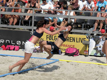 Norway Beach Handball warmup Royalty Free Stock Images