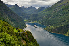 Norway, beautiful landscape, still wild nature Stock Photo