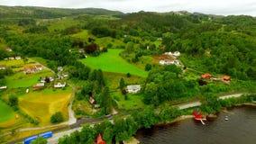norway Bello paesaggio della Norvegia stock footage