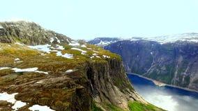 norway Bello paesaggio della Norvegia fiordo archivi video
