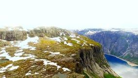 norway Bello paesaggio della Norvegia fiordo video d archivio