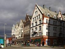 Norway Bergen Bryggen. Bergen City - Bryggen street view. Norway Stock Image