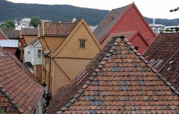 Norway - Bergen, Bryggen Hanseatic Wharf Royalty Free Stock Images