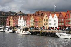 Norway - Bergen, Bryggen Hanseatic Wharf Stock Photography