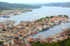 Norway. Bergen. Bergen is the history of Norway. Founded more than 9 centuries ago on the shore of the sea, the city has always been famous for hospitality Royalty Free Stock Image