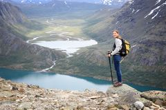 Norway Besseggen trail Royalty Free Stock Image