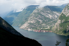 Norway - big fjord panaramic view Stock Photography