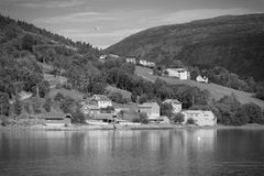 Norway black white Stock Photography