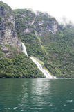 Norway - Bridal Veil Falls - Geirangerfjord Stock Images