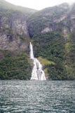 Norway - Bridal Veil Falls - Geirangerfjord. Europe travel destination Stock Photo