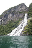 Norway - Bridal Veil Falls - Geirangerfjord Royalty Free Stock Photography