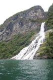 Norway - Bridal Veil Falls - Geirangerfjord Royalty Free Stock Photography